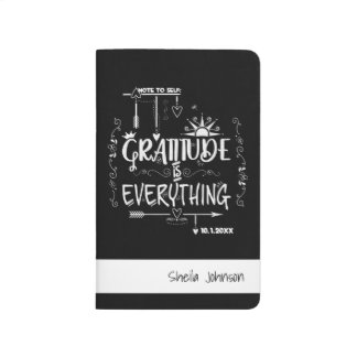 Gratitude Bullet Journal with Key, Quotes, & Name