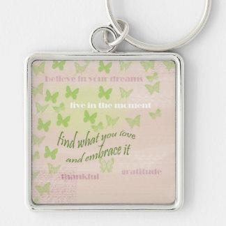 Gratitude Butterflies Key Ring