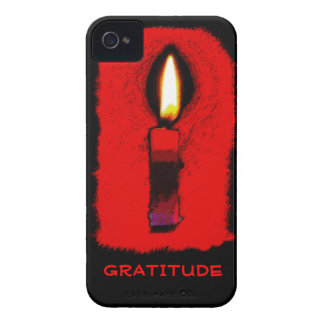 Gratitude Candle iPhone 4 4S Case with Custom Text iPhone 4 Covers