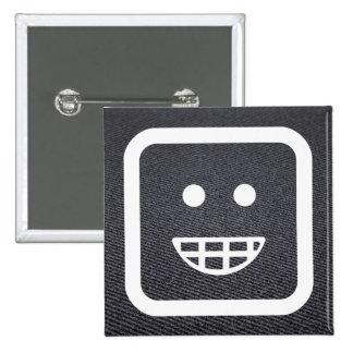Gratitude Emoticons Symbol 15 Cm Square Badge