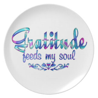 Gratitude Feeds My Soul Plate