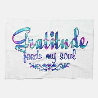 Gratitude Feeds My Soul Tea Towel