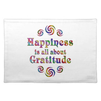 GRATITUDE HAPPINESS PLACEMAT