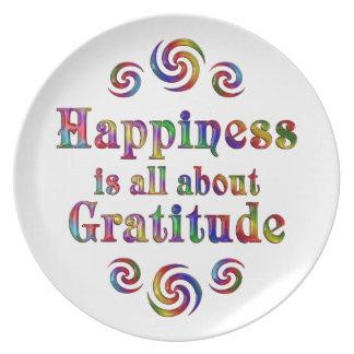 GRATITUDE HAPPINESS PLATE