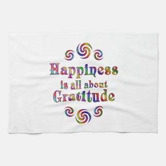 GRATITUDE HAPPINESS TEA TOWEL