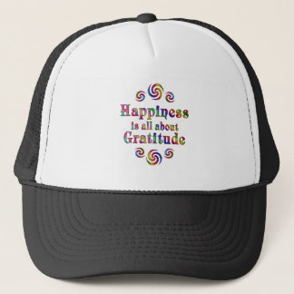 GRATITUDE HAPPINESS TRUCKER HAT