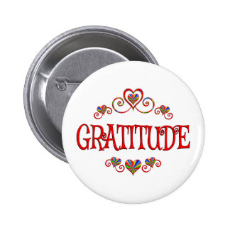 Gratitude Hearts 6 Cm Round Badge
