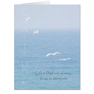 Gratitude Inspirational Birds over Ocean Card