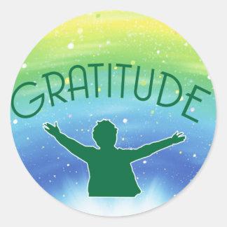 Gratitude Inspirational Classic Round Sticker