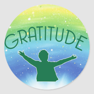 Gratitude Inspirational Round Sticker
