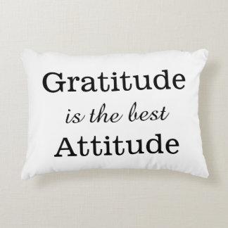 Gratitude is The Best Attitude Positive Quote Decorative Cushion