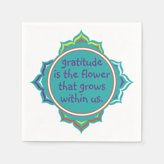 Gratitude is the Flower Disposable Napkins