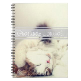 Gratitude Journal Sleeping Cat Customizable Text