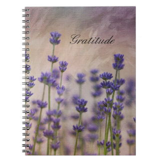 Gratitude Lavender Flowers Notebooks
