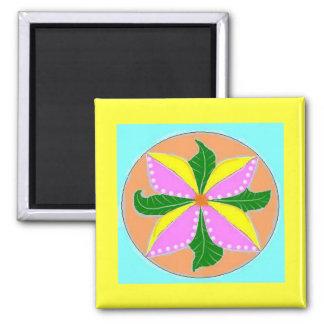 Gratitude Mandala Square Magnet