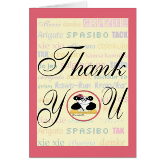Gratitude means the same in any language card