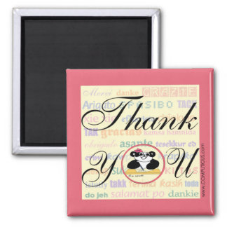 Gratitude means the same in any language square magnet