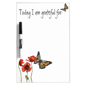 Gratitude Reminder List for Your Fridge Dry-Erase Boards