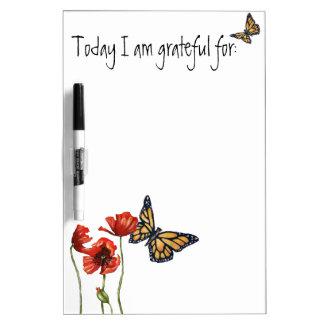 Gratitude Reminder List for Your Fridge Dry-Erase Boards
