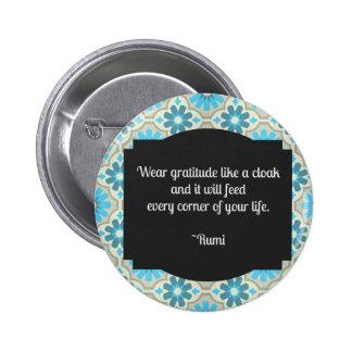 Gratitude Rumi Quote 6 Cm Round Badge