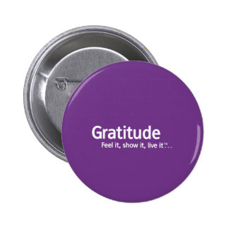 Gratitude - Thought Shapers™ 6 Cm Round Badge