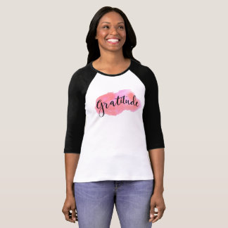 Gratitude watercolor calligraphy T-Shirt