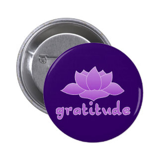 Gratitude with Violet Lotus Buttons