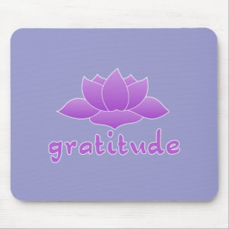 Gratitude with Violet Lotus Mouse Pad