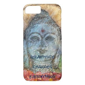 Gratitude Zen Buddha Watercolor Art Phone Case