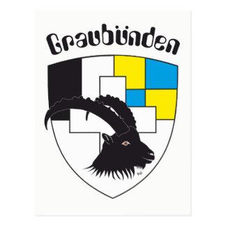 Graubünden Switzerland postcard