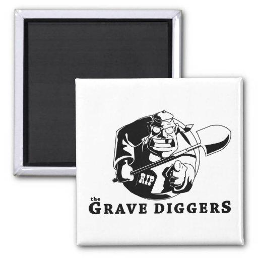 grave diggers logo fridge magnet