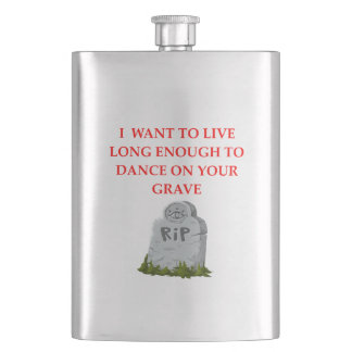 GRAVE HIP FLASK