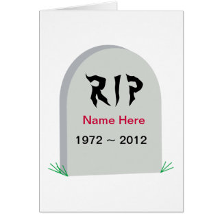 Grave RIP Over The Hill Birthday Card