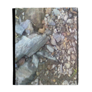 gravel and stone iPad folio cover