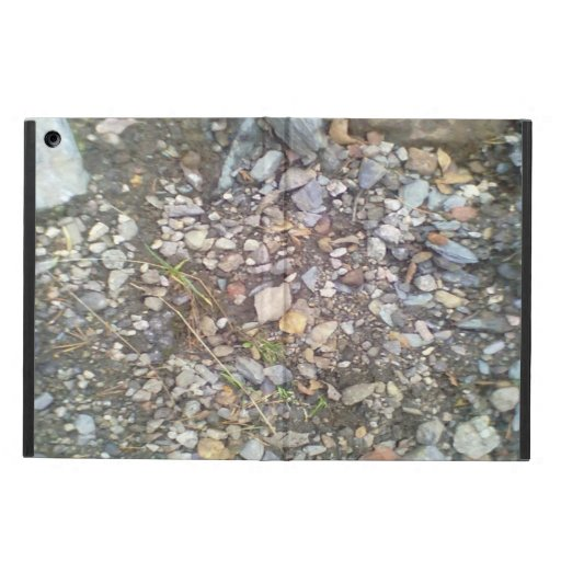 gravel and stone iPad air cover