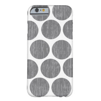 Gravel Gray Distressed Polka Dot iPhone 6 Barely There iPhone 6 Case
