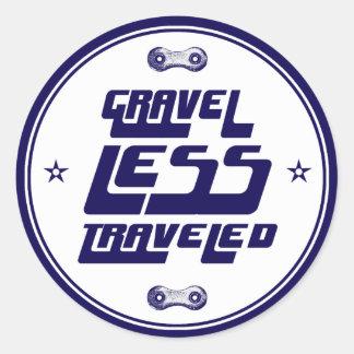 Gravel Less Traveled Classic Round Sticker