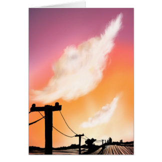 Gravel Road Blank Greeting Card