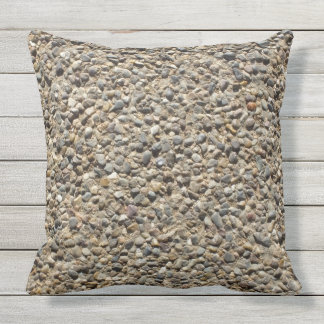 Gravel & Sand Photo on Pilllow Outdoor Cushion