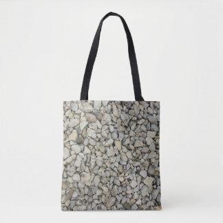 Gravel texture tote bag