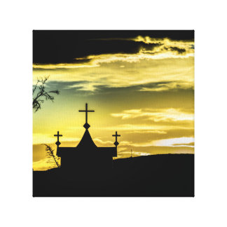 Graves at Side of Road in Santa Cruz, Argentina. Canvas Print