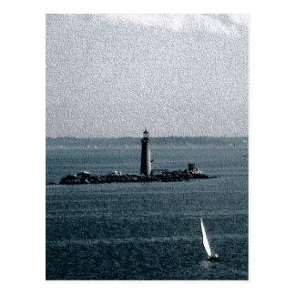 Graves Light in Boston Harbor Postcard