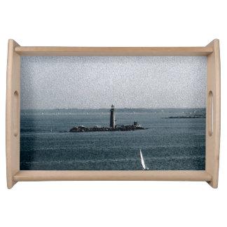 Graves Light in Boston Harbor Serving Platter