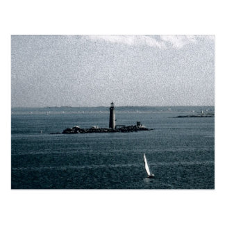Graves Light in Boston Harbour Postcard