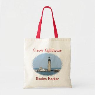 Graves Lighthouse Boston Harbor Budget Tote Bag