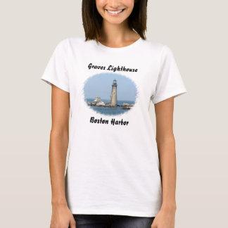 Graves Lighthouse Boston Harbor Ladies Tee Shirt