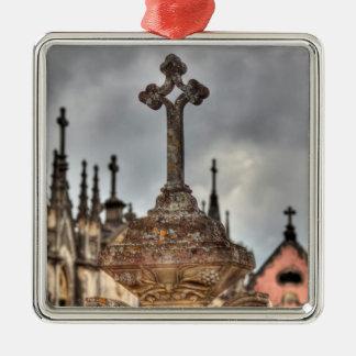 Graveyard cross close-up, Portugal Metal Ornament