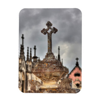 Graveyard cross close-up, Portugal Rectangular Photo Magnet