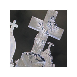 Graveyard Cross Printed Canvas Canvas Print