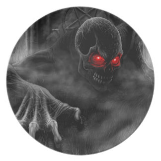 Graveyard Demon Rising Hell On Earth Pentagram Plate